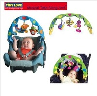 2014 New, retails ,Free Shipping, baby /kids stroller toys, musical take-along arch,1pcs/lot