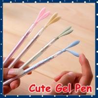 [FORREST SHOP] Kawaii School Stationery Office Supplies Novelty Rubbit Ear 0.38MM Black Gel Pen YP8236