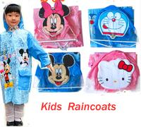 Free Shipping Kids Cartoon Rain Coat children Raincoat  baby Rainwear/Rainsuit,Kids Waterproof Animal Raincoat