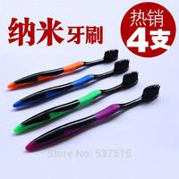 Free shipping  sets Korea Bamboo charcoal toothbrush  wholesale nano soft toothbrush nano bamboo Anion Charcoal