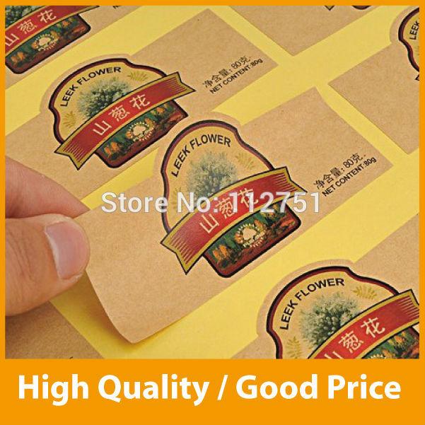 Die cut custom self-adhesive label sticker PVC, paper, pet(China (Mainland))