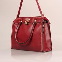 2014 Wine Red Vintage Simple PU Leather Bag Handbag for Women Shoulder Bag Messenger Bags Tote#HC064
