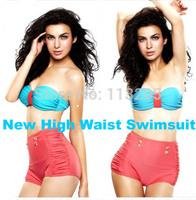50s New Womens Sexy Retro Pinup Rockabilly Vintage High Waisted Push Up Bikini Swimsuit Swimwear Bikinis