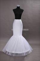 2014 Hot sale Mermaid Petticoat/slip 1 Hoop Bone Elastic Wedding Dress Crinoline Trumpet Hot sale Free shipping