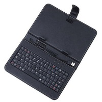 New Arrival! 9 inch keyboard russian stand leather case for tablet pc