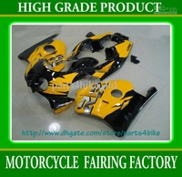 Hot Yellow ABS Plastic fairing for  CBR250RR MC22 1991-1997-1998 CBR250RR 91-94  RX1x