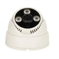 plug and play HD 1280*720P  indoor ip camera dome 3.6mm lens wide angle array led ONVIF