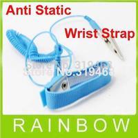 50pcs/lor RA NEW Anti Static Antistatic ESD Adjustable Wrist Strap Band Grounding Blue Free Shipping