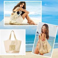 High Quality VS Summer Fashion Bag,Large Capacity Canvas Bronzing Beach Shoulder Bag, Casual Canvas Bag, 53*25*38CM