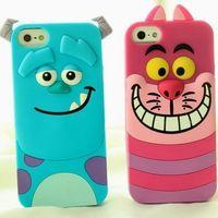 Cartoon Animal For iPhone 4 4s 5 5g 5s Case Monster University Sulley Marie Alice Cat Slinky Dog Back Cover Capa Celular