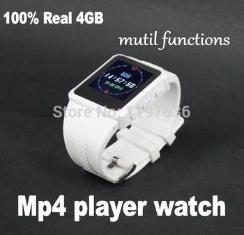 Мода! 100% высокое качество настоящее 4 ГБ часы Mp4 плеер, Ad688 мини-экрана спорт FM + E - книга + регистратор