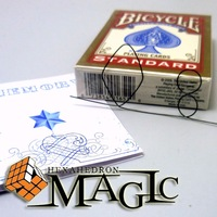 Free shipping!!  Memory Metal Wire Fire Prediction 8 of Diamonds / close-up street professional card magic tricks products /