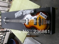 free shipping + Guitar factory + Custom Hofner Icon Series Vintage Violin Bass Guitar, German Hofner bass guitar with case
