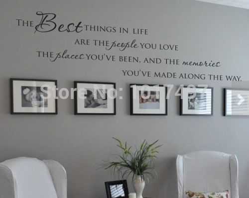 Popular Wall Decal Quotes : The Best Things In Life Vinyl Wall Decals ~  Love Memories