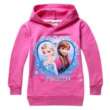 1pcs/lot 2014 Frozen elsa anna girls boys nova full  t-shirts kids children t shirts child Spring hoodies Tops & Tees 3#(China (Mainland))