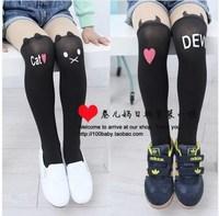 Children's clothing female child 2014 spring child knee-high kid's pantyhose socks stockings legging socks