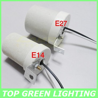 E27 Ceramic Screw Lamp Socket High Temperature E27 Lamp Base for Light Bulb E27 Ceramic Lamp Holder Ceiling Mounted Lamp Socket
