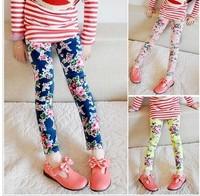 2014 girls clothing vintage slim faux denim elastic skinny pants legging children's pants