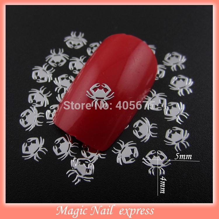 MNS363 Siver crab new nail design metallic nail polish sticker DIY metal nail art decoration approx 1000pcs/pack supplies(China (Mainland))
