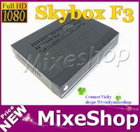 DHL shipping,2Pcs/Lot Skybox F3 Dual-Core CPU 1080P Full HD DVB-S2 MPEG4 PVR CCCAM New version  Satellite receiver