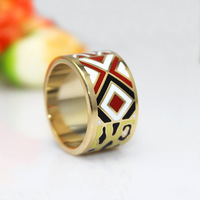 Newest Brand Product Leopard Design Rose Gold Plated Enamel Jewelry Rings,1pcs/pack