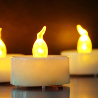 17 % Chic Yellow Flame LED Flameless Candle For Wedding  CDL1018 /Battery Include/ 500pcs