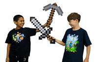 10pcs/Combo Minecraft blue diamond sword and pickaxe Christmas Gift for kids