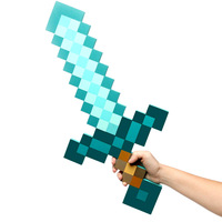 5Pcs 2014 Newest Design Game Toy Diamond Sword Minecraft Foam Mosaic Sword/Pickaxe/Hamaxe For Baby/Girl/Boy Free Drop Shipping