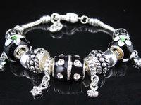 925 Tibetan Silver Murano Glass For Women Chamilia Bracelet 2014 Charm Beads DIY Bracelet New Bracelets&Bangles Free Shipping
