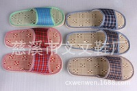 Lovers sandals summer flatCany mat linen slippers that occupy the home Floor of wood of cool guest slippers TX03-1pcs