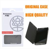 Wholesale Original Lenovo P780 Leather Flip Case Black In Stock Mobile Phone Cases for Lenovo P780 Sleep Protective shell 5pcs