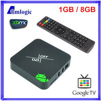 DVB-T2 Android TV Box Amologic 8726-MX EM6 S2 TV Receiver Dual Core 1G RAM 8G 3D Optical XBMC Wifi Google Android Set-top Box
