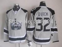 2014 Stadium Series Los Angeles Kings Jersey 32 Jonathan Quick Grey Mens Ice Hockey Jersey Allow Drop Shipping