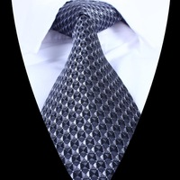 2014 Geometry Patterned Jacquard Woven Gentlemen Necktie Men Tie 100% Silk T701