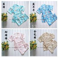 2014 new cartoon kids pajama set,children boys girls sleepwear,cartoon baby nightwear,fashion child pyjamas,silk clothing set
