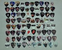 New 80pcs/lot Assorted Guitar Picks Rock Bands Collection The Beatles 1D QUEEN Motley Crue etc. Printed