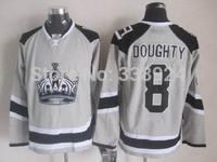 2014 Stadium Series Los Angeles Kings Jersey 8 Drew Doughty Grey Mens Ice Hockey Jersey Allow Drop Shipping