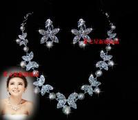 The bride accessories pearl necklace rhinestone accessories wedding jewellery