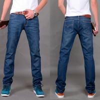 Jeans male slim modern teenage fashion summer male straight denim trousers boys