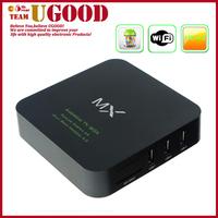 High Quality Amlogic 8726 MX Dual Core Android Smart TV Box 1GB RAM 8GB ROM XBMC HDMI IR Remote Controller Wifi E M6 Mini Pc