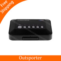 Cheapest Portable Mini High-definition 720p HD Media Center Player RM RMVB AVI MPG MPEG MP4 HDD TV Box Player with USB