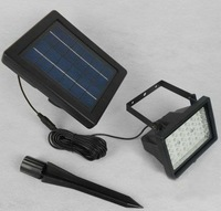 40 LED Solar flood light 100 % solar power outdoor lawn lamp garden light CE approved 2 color option