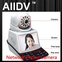 Wireless Visual Video Call P2P IP Camera Network Phone Camera with USB, TF, 3C Card Slot