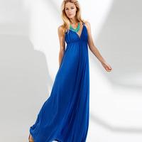 2014 spring fashion casual V-neck sleeveless spaghetti strap sexy full dress one-piece dress 6253