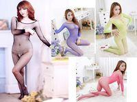 Hot Sexy Lingerie Fishnet Open Crotch Tights Nightwear 72943-72946
