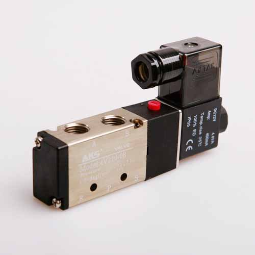 """New 5 Way 2 Position electric Pneumatic Solenoid Valve 1/4"""" DC 12V(China (Mainland))"""