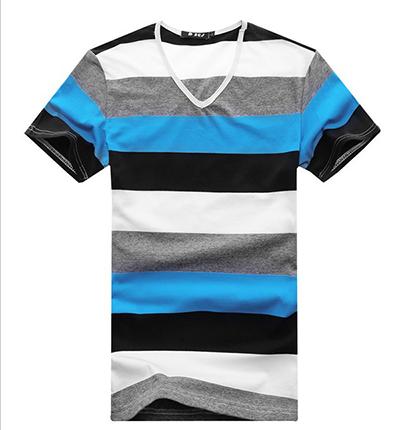 [해외]새로운 2014 패션 여름 남성 T- 셔츠 / 브랜드 슬림 맞춤 스트..