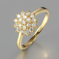 Round flower ring composed of 19 small amphibole lovely with ornaments  ALW1809