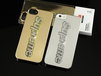 New Design Luxury Supreme Metal Mirror Case Bling Diamond Hard Back Cover For iphone 5 5S 5G Free Shipping