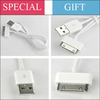 Free shipping High quality white and black cables usb charger data cable adapter cabo kabel for apple iphone 44S